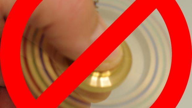 hand spinner interdit