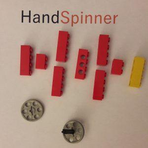 hand spinner en lego avant montage